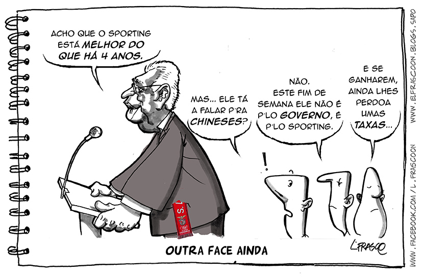 L.FRASCO+cartoon_António Costa sportinguista
